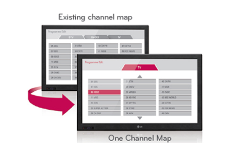 Chức năng One Channel Map của Hotel TV