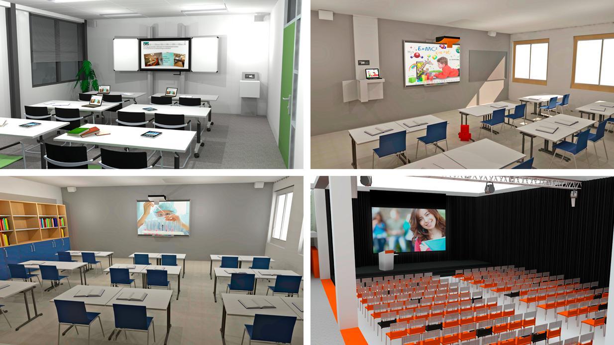 màn hình chuyên dụng cho phòng học giảng đường