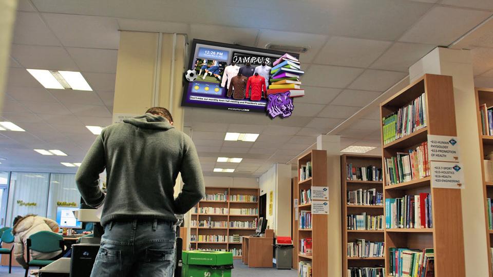 màn hình chuyên dụng cho thư viện